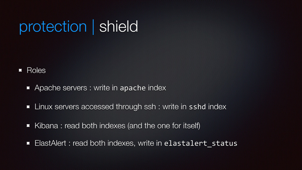protection | shield Roles Apache servers : writ...