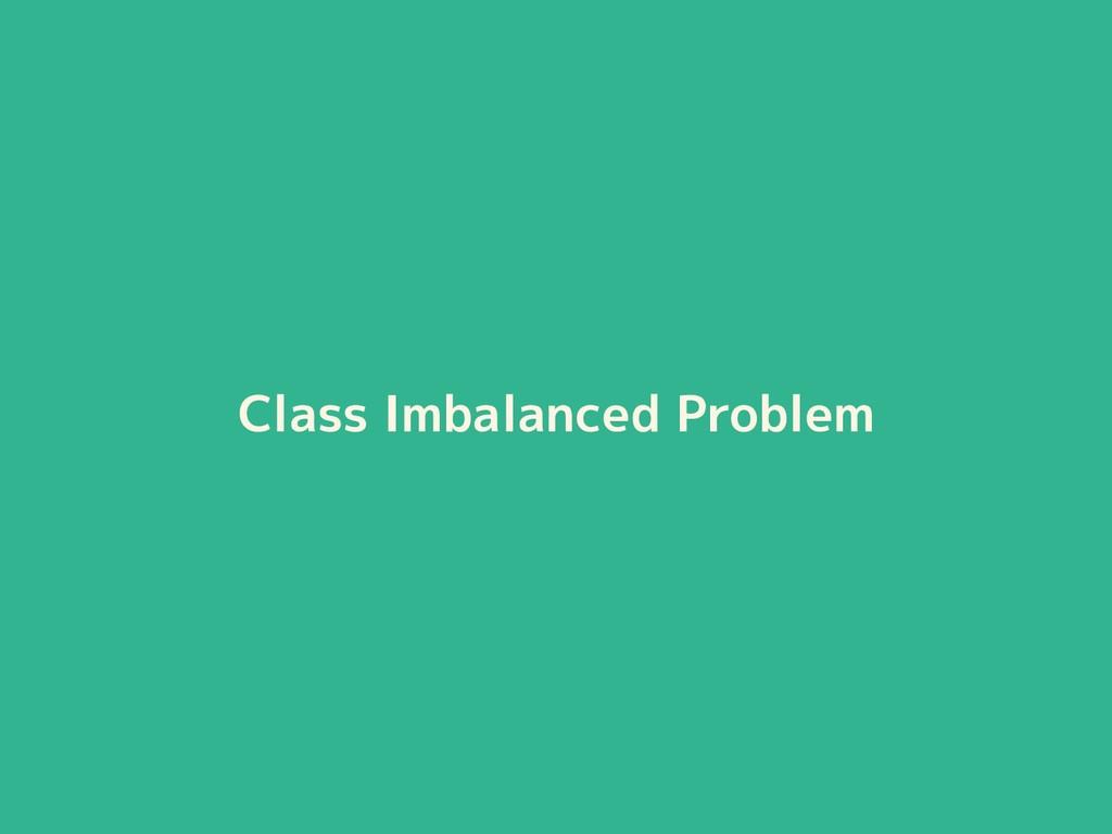 Class Imbalanced Problem