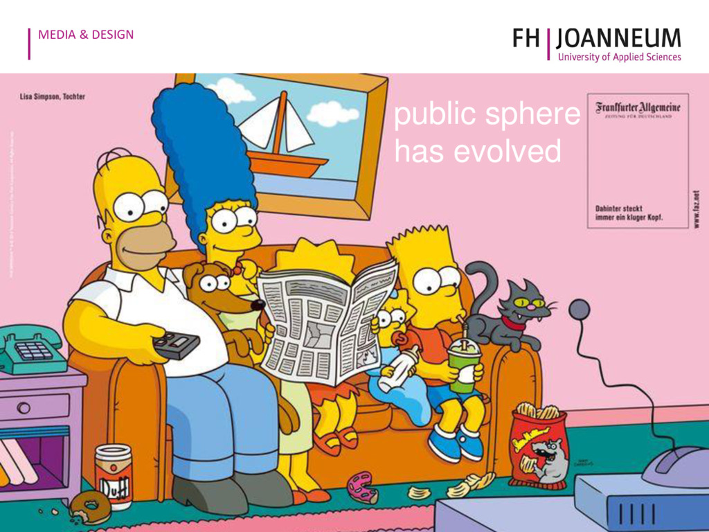 MEDIA & DESIGN public sphere has evolved