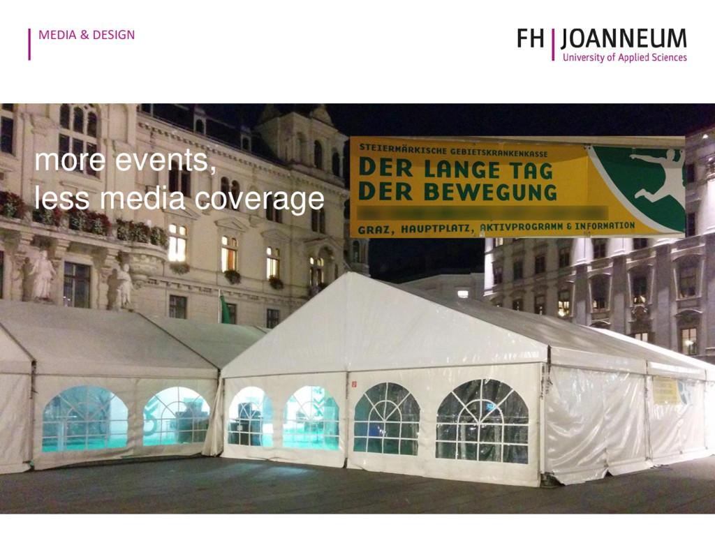 MEDIA & DESIGN 19 © exit fe more events, less m...