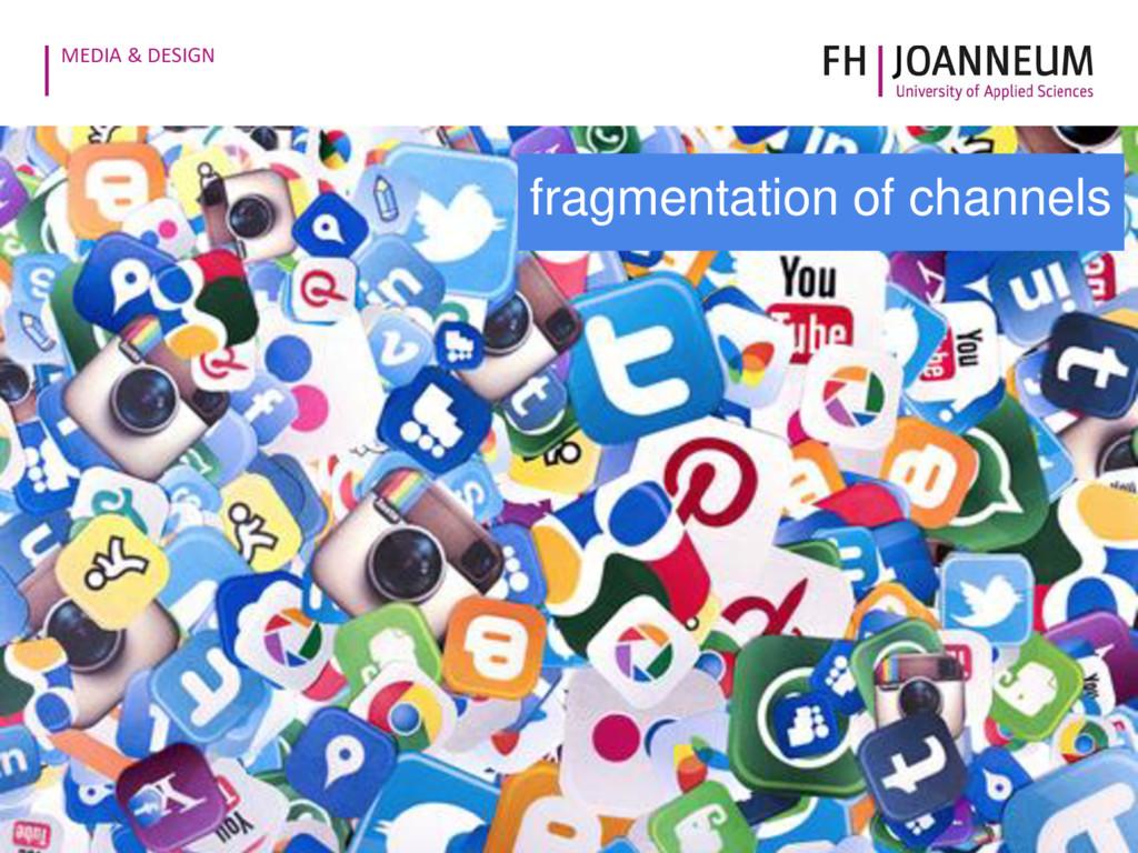 MEDIA & DESIGN fragmentation of channels