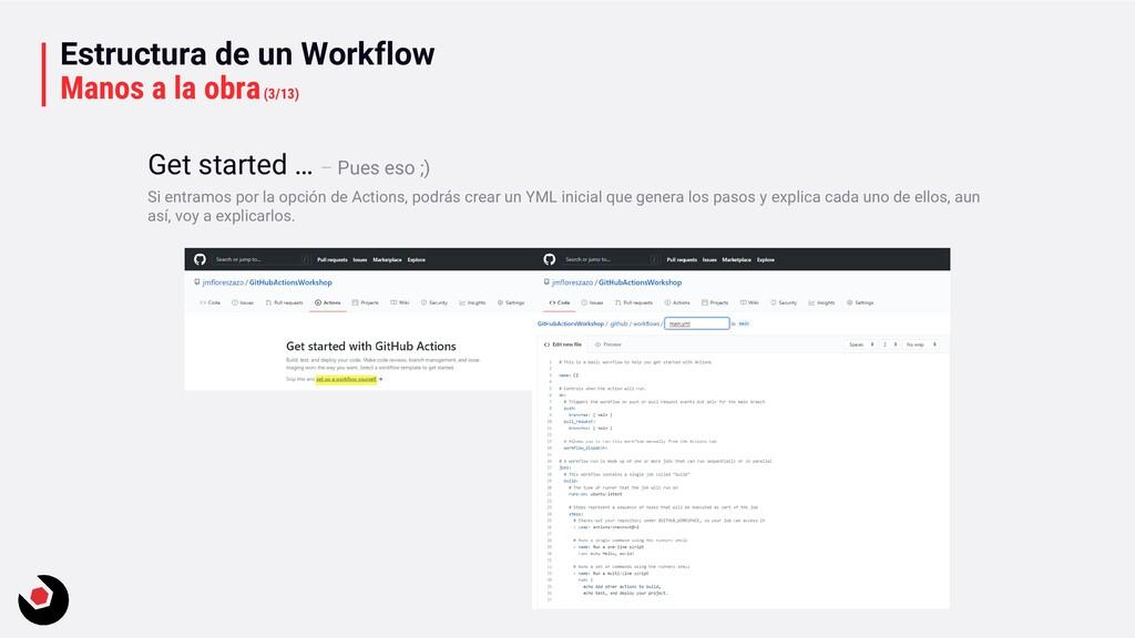 Estructura de un Workflow Manos a la obra(3/13)...