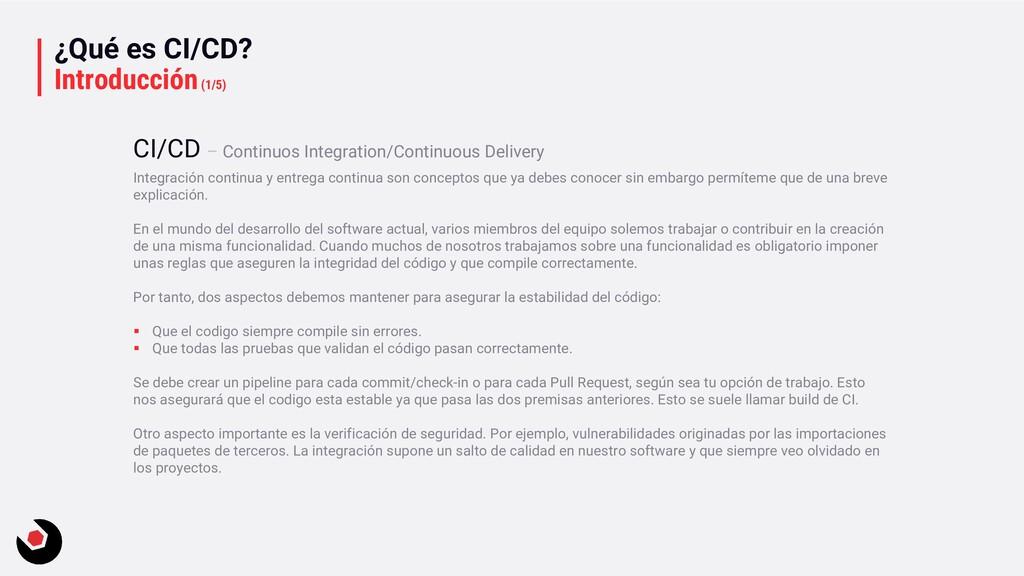 ¿Qué es CI/CD? Introducción(1/5) Integración co...