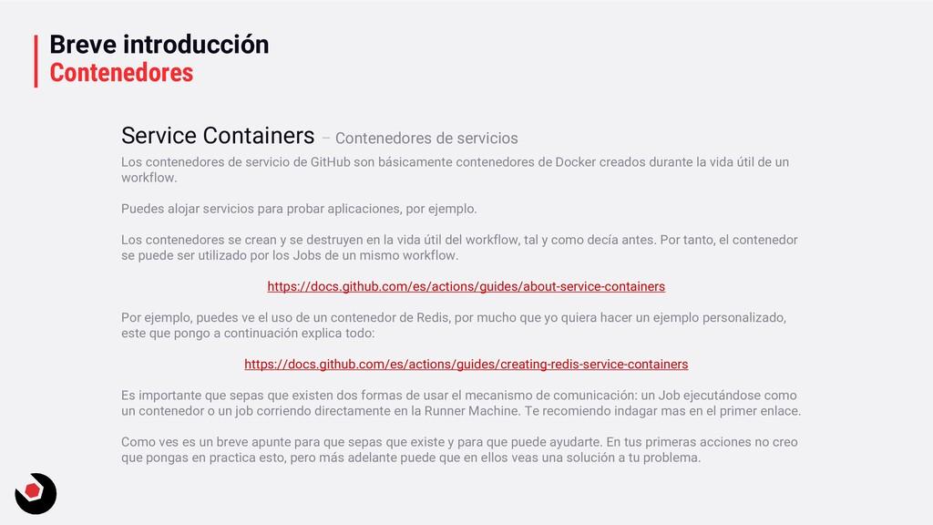 Breve introducción Contenedores Los contenedore...