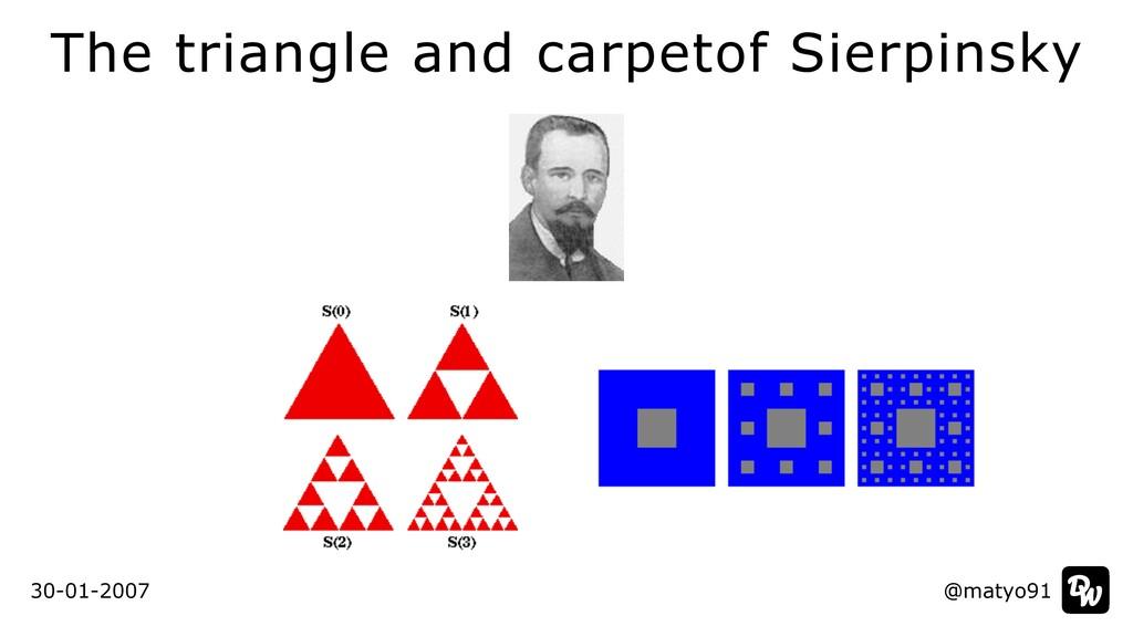 The triangle and carpetof Sierpinsky @matyo91 3...