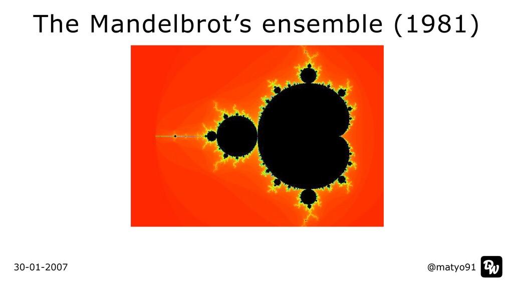 The Mandelbrot's ensemble (1981) @matyo91 30-01...