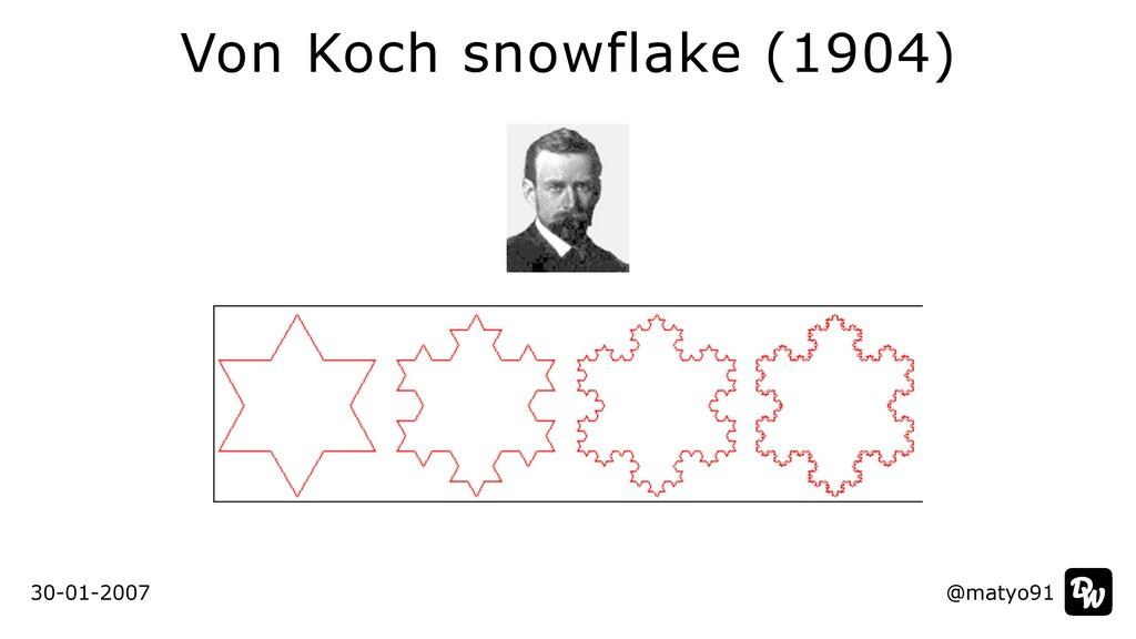 Von Koch snowflake (1904) @matyo91 30-01-2007