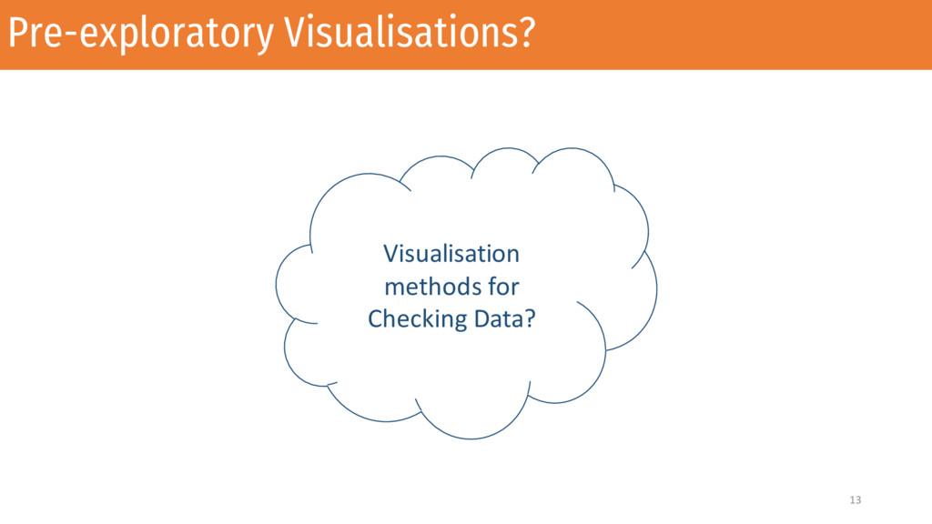 Pre-exploratory Visualisations? 13 Visualisatio...