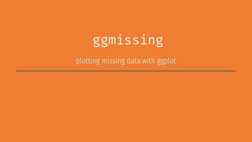 ggmissing plotting missing data with ggplot