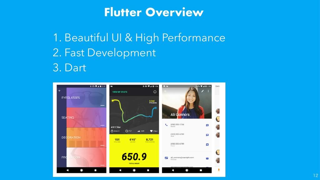 Flutter Overview 1. Beautiful UI & High Perform...