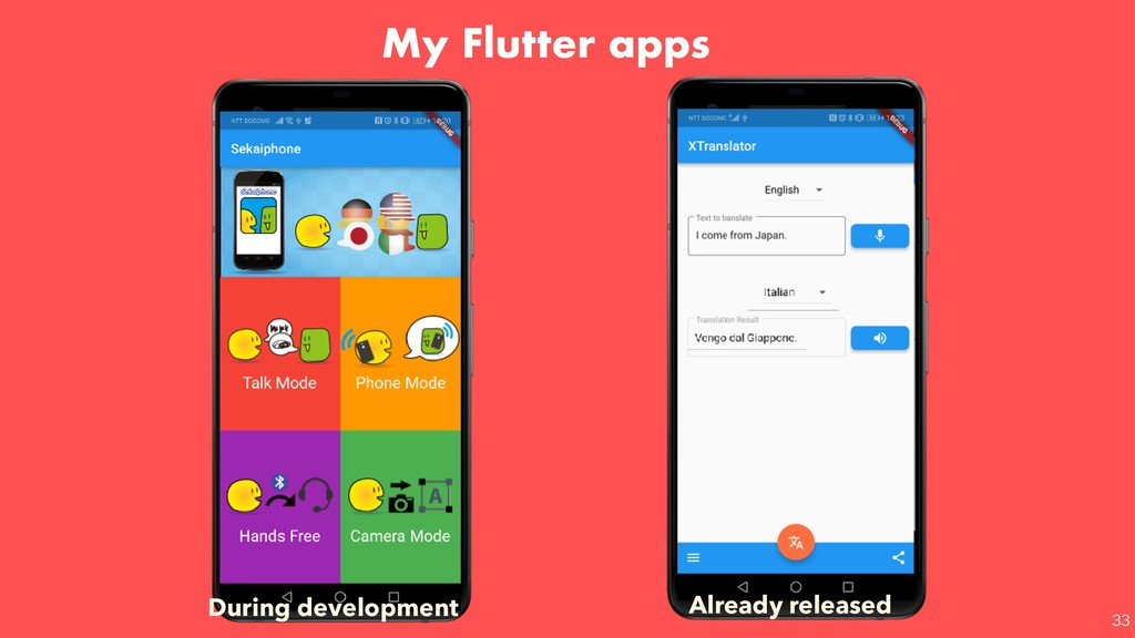 My Flutter apps Already released During de...
