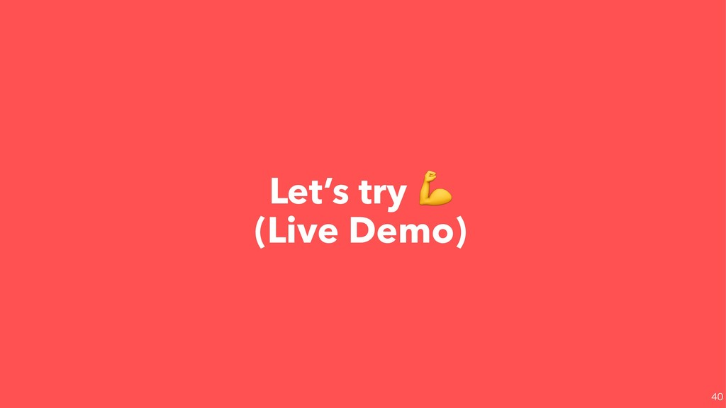 Let's try  (Live Demo)