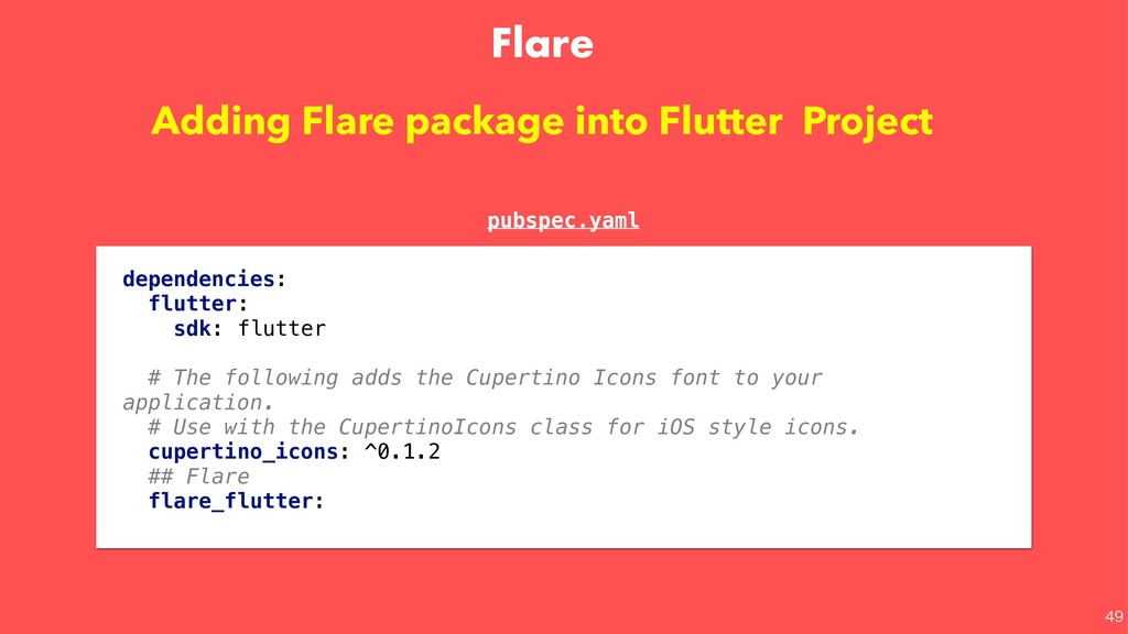 Flare   Adding Flare package into Flutter Pr...