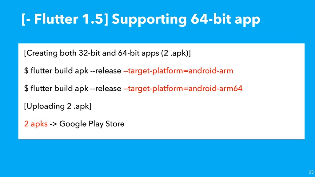 [- Flutter 1.5] Supporting 64-bit app [Creating...