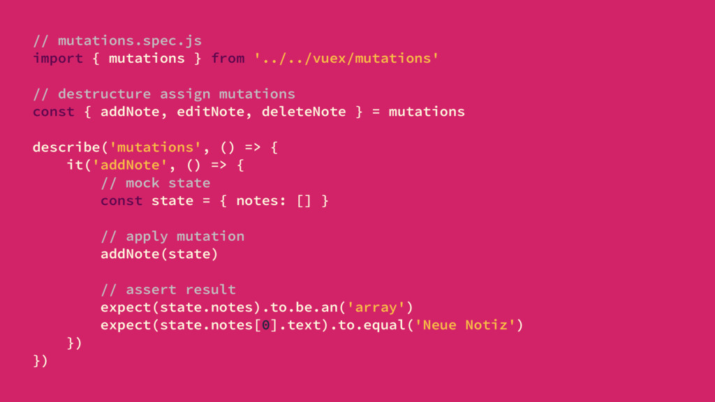 // mutations.spec.js import { mutations } from ...