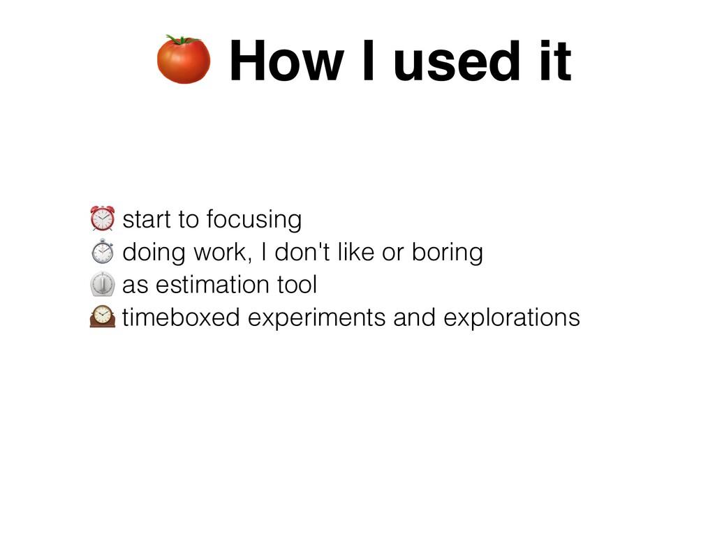 ⏰ start to focusing   ⏱ doing work, I don't lik...