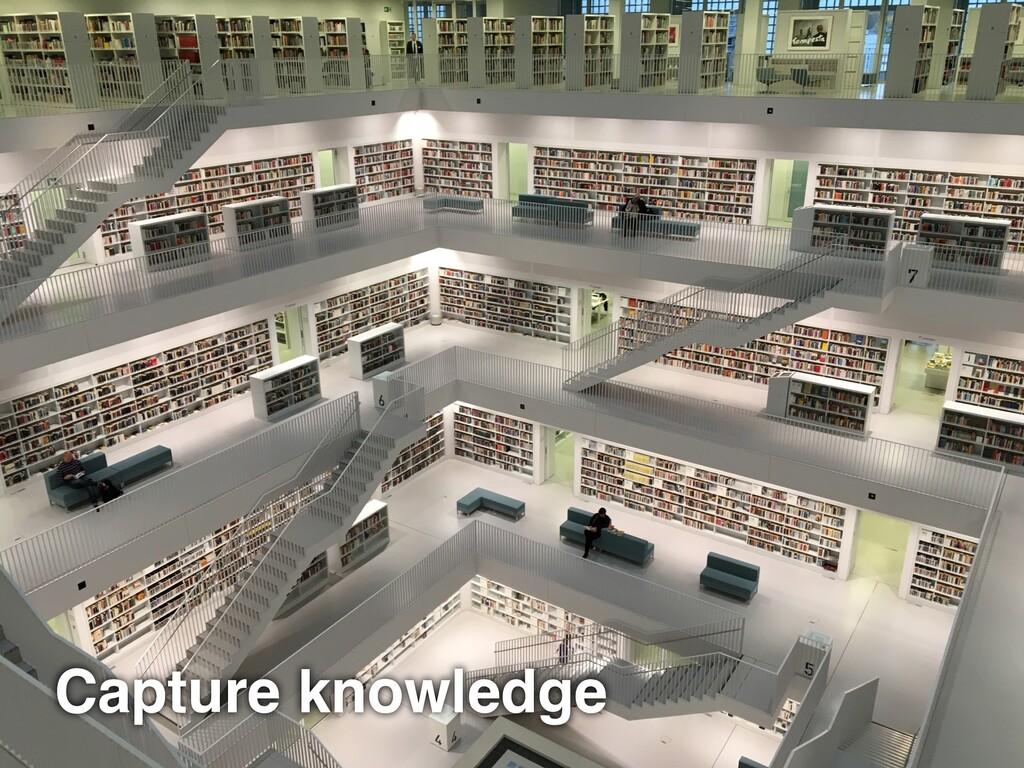 Capture knowledge