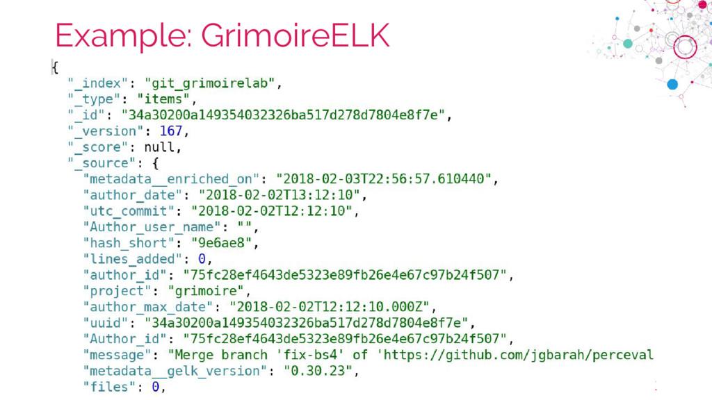 chaoss.community Example: GrimoireELK