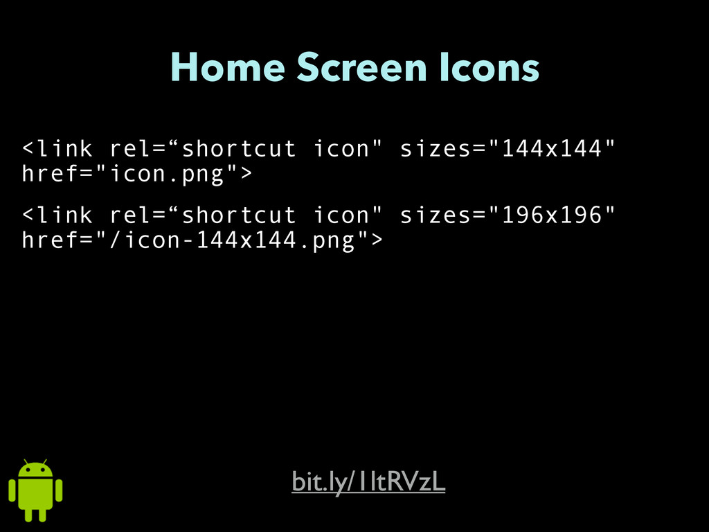 "Home Screen Icons <link rel=""shortcut icon"" siz..."