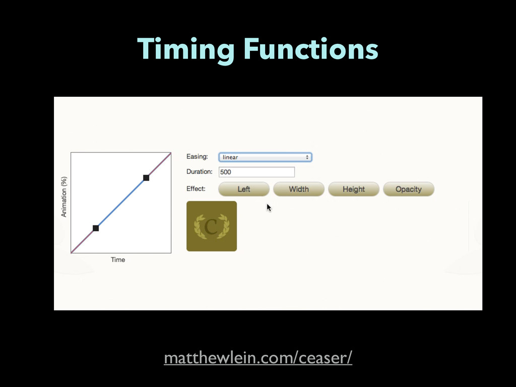 Timing Functions matthewlein.com/ceaser/
