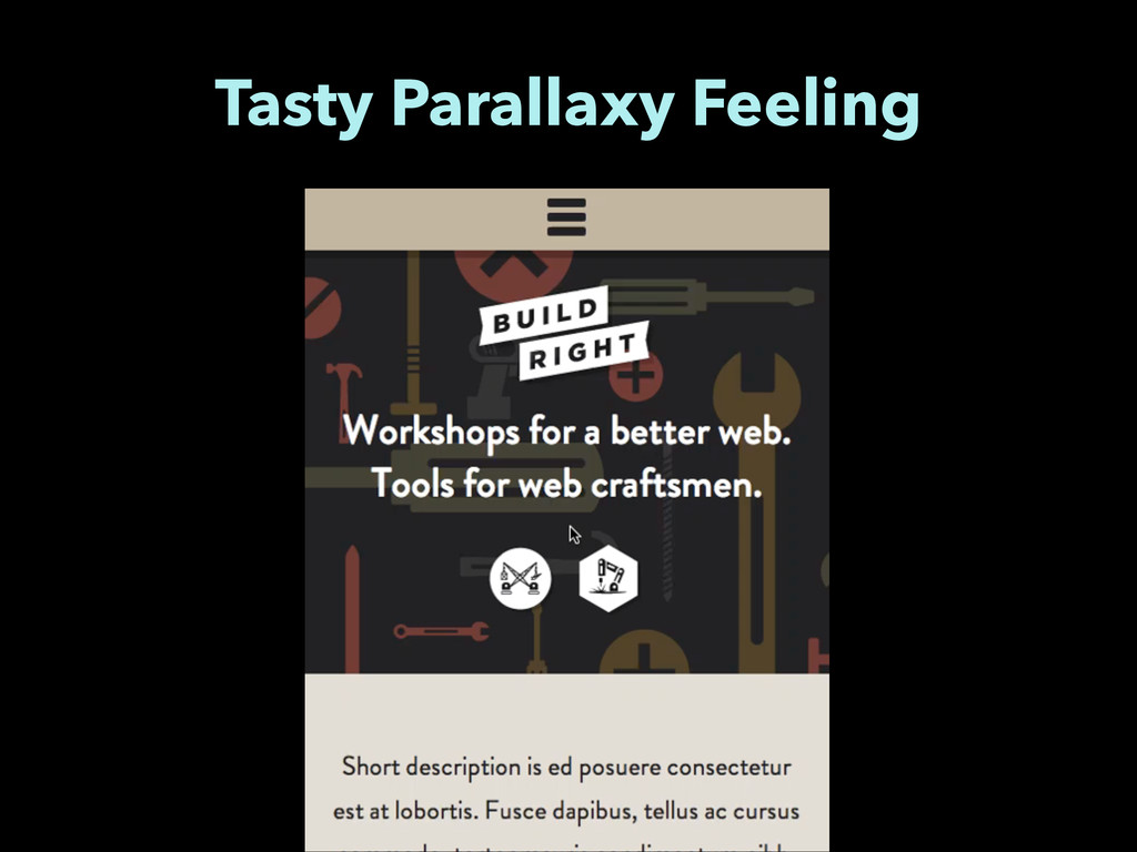 Tasty Parallaxy Feeling