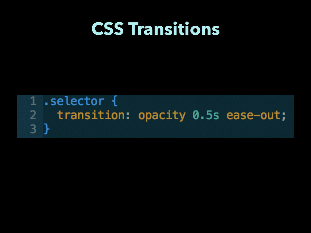 CSS Transitions