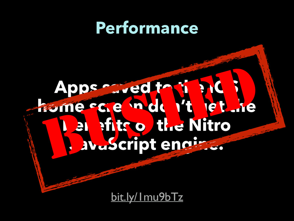 Performance bit.ly/1mu9bTz Apps saved to the iO...