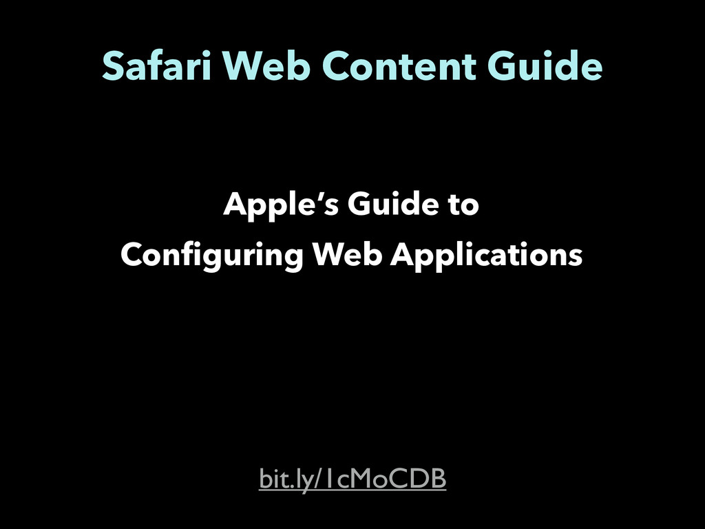 Safari Web Content Guide Apple's Guide to Confi...