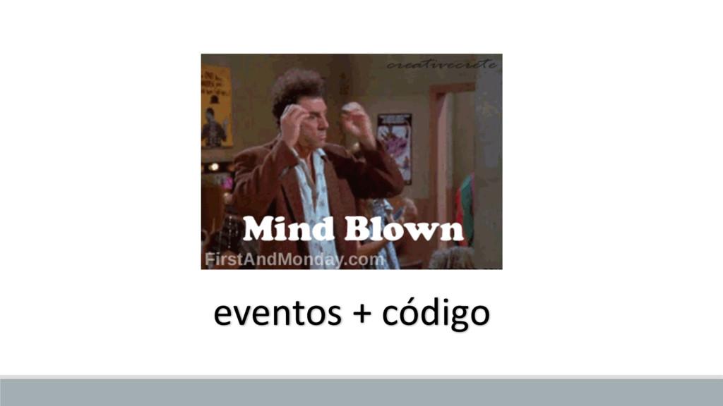 eventos + código