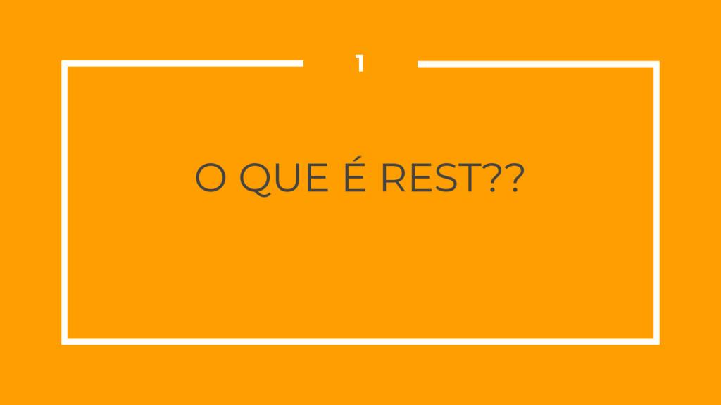 O QUE É REST?? 1