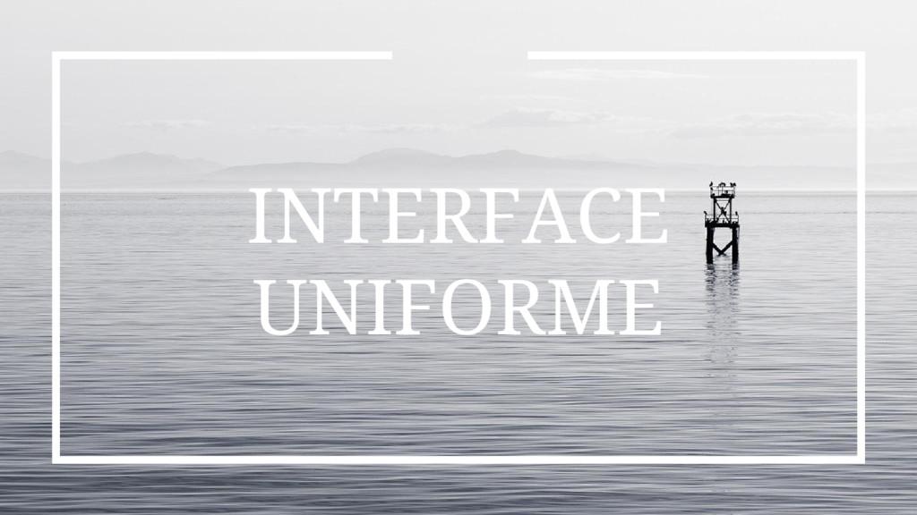 INTERFACE UNIFORME