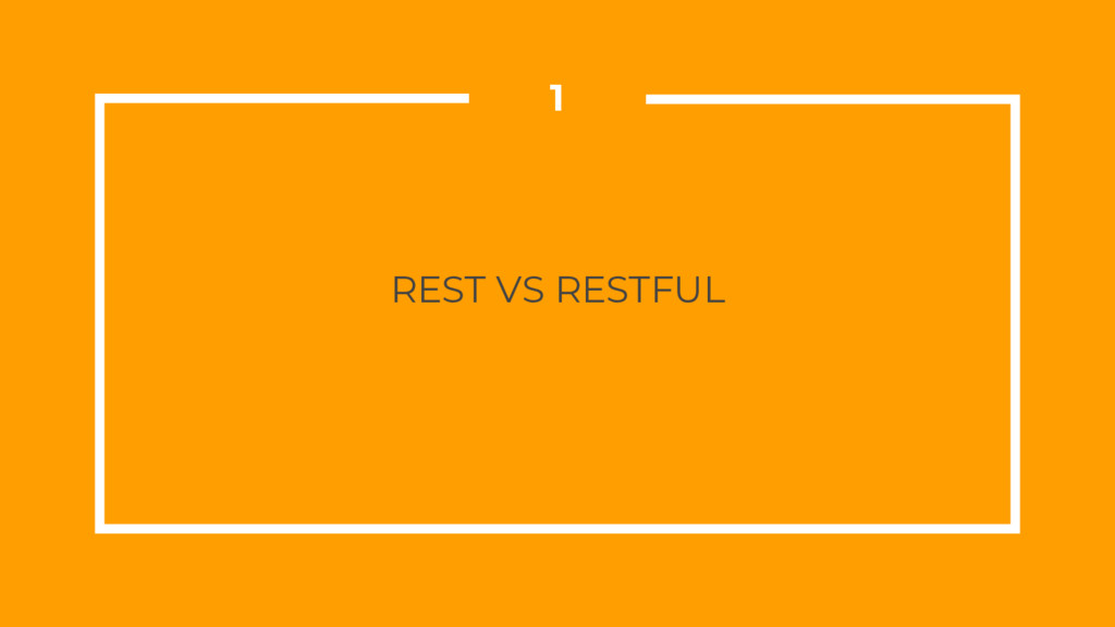 REST VS RESTFUL 1
