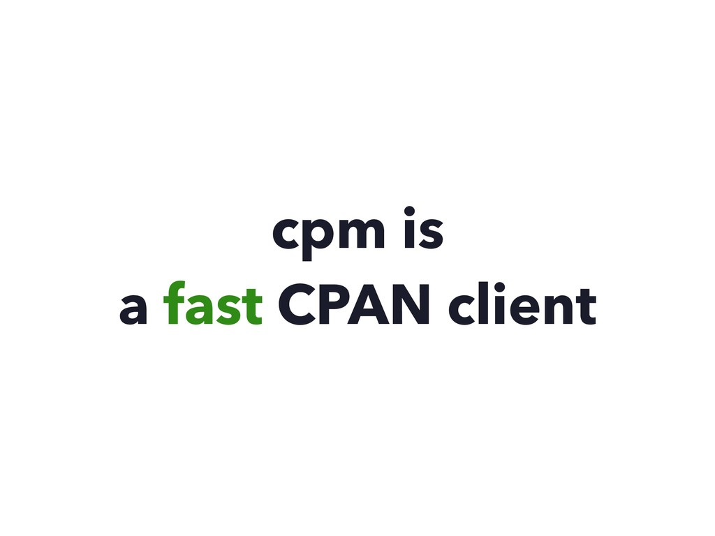 cpm is