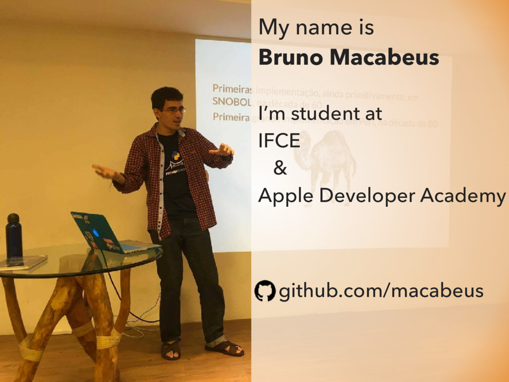 My name is Bruno Macabeus I'm student at IFCE &...