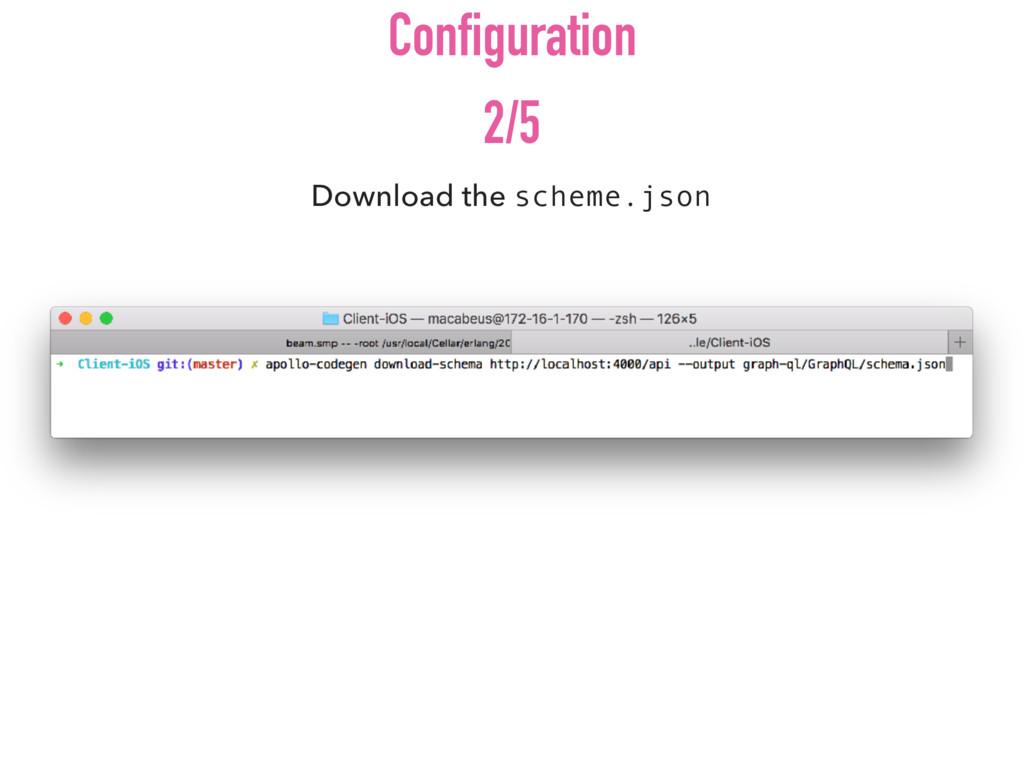 Download the scheme.json Configuration 2/5