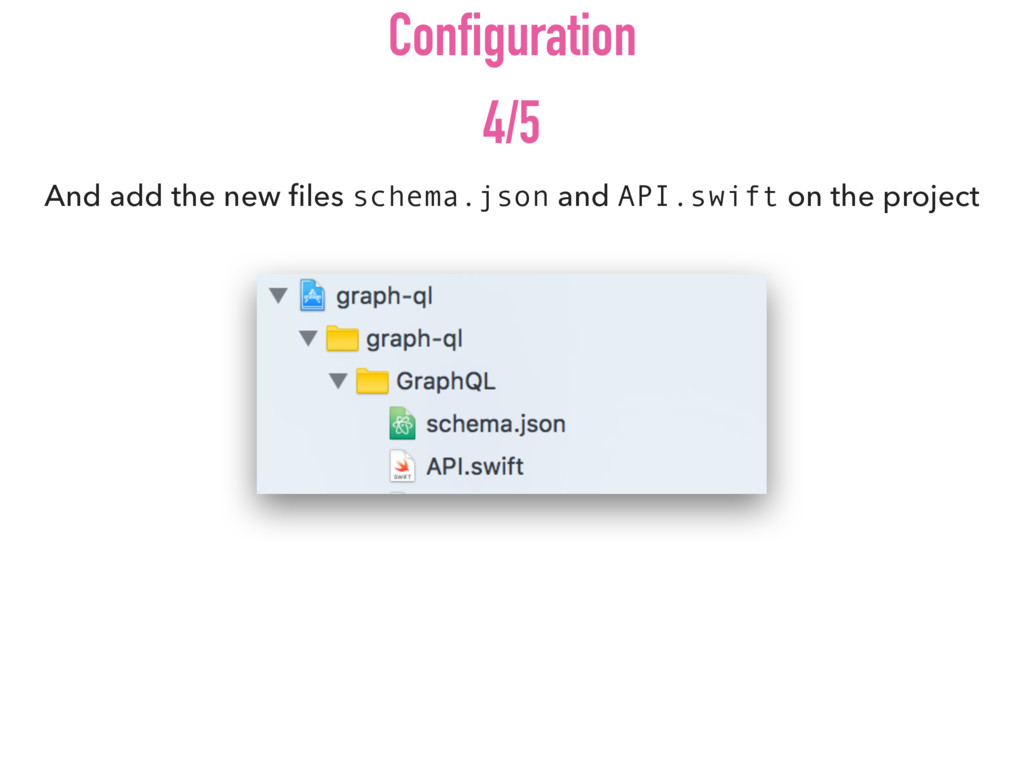 And add the new files schema.json and API.swift ...