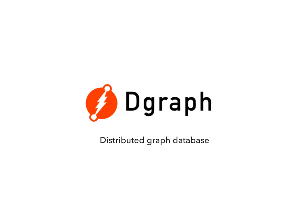 Distributed graph database
