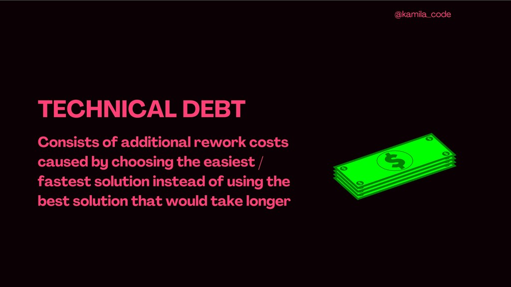 TECHNICAL DEBT Consists of additional rework co...