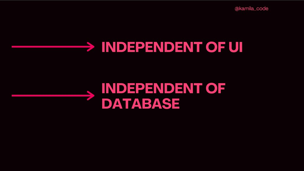 INDEPENDENT OF UI @kamila _code INDEPENDENT OF ...
