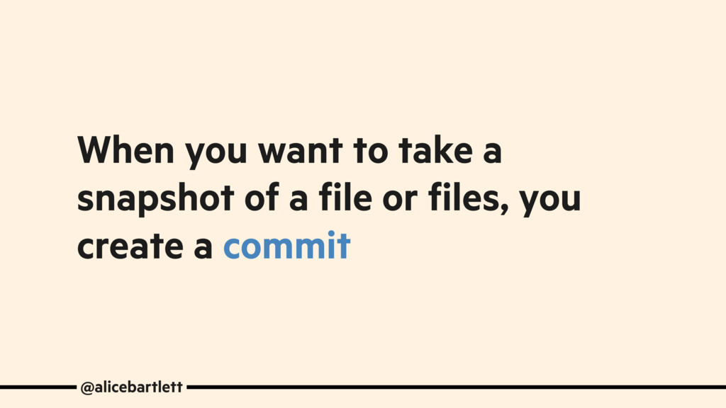 When you want to take a snapshot of a file or f...