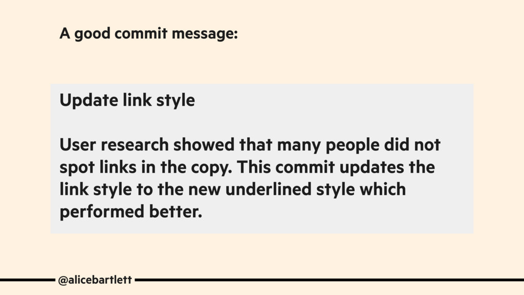 Update link style User research showed that man...