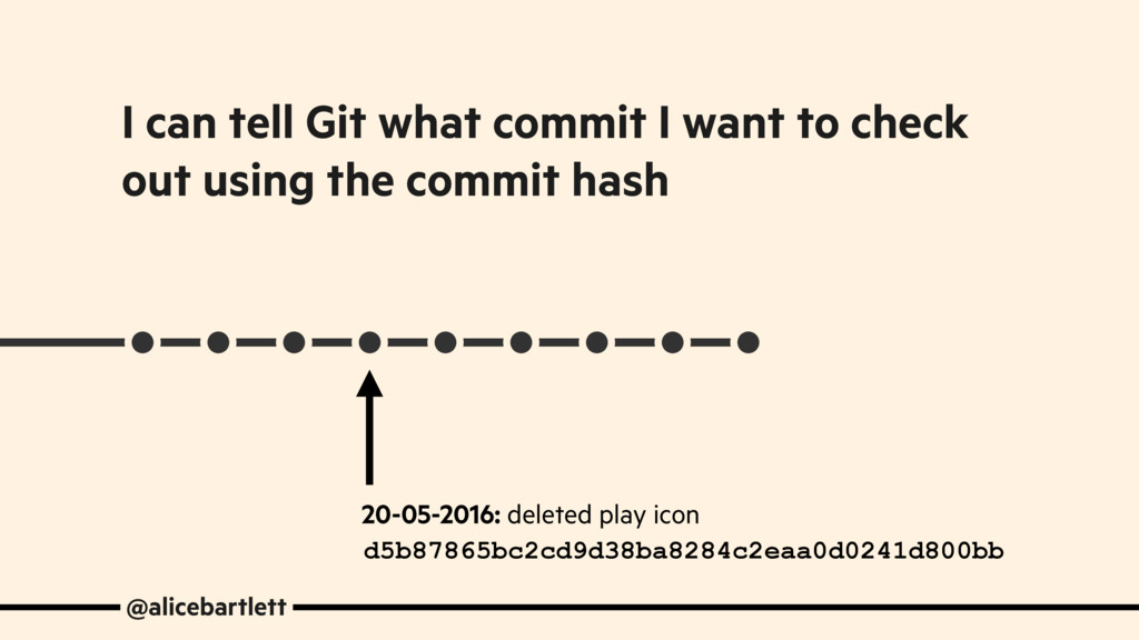 @alicebartlett I can tell Git what commit I wan...