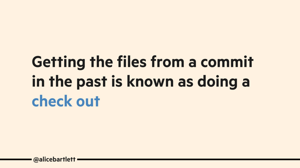 Getting the files from a commit in the past is ...
