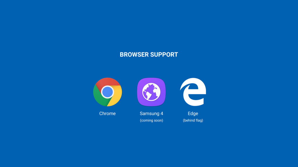 BROWSER SUPPORT Chrome Samsung 4 Edge (behind f...