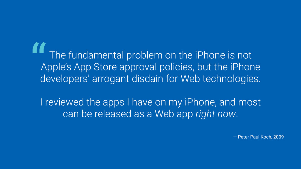 The fundamental problem on the iPhone is not Ap...