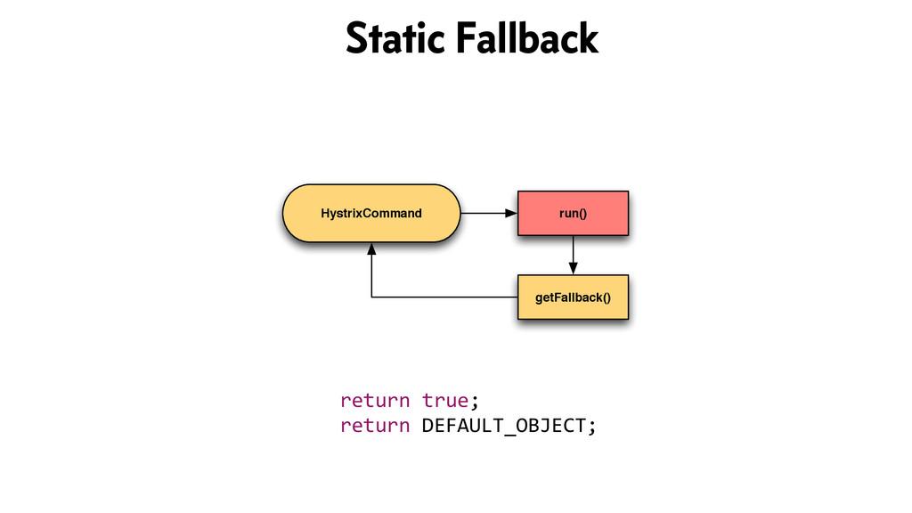 HystrixCommand run() getFallback() return tr...