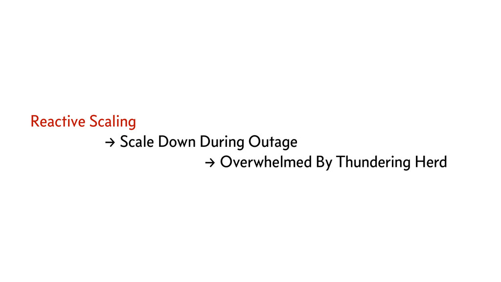 Reactive Scaling → Scale Down During Outage → O...