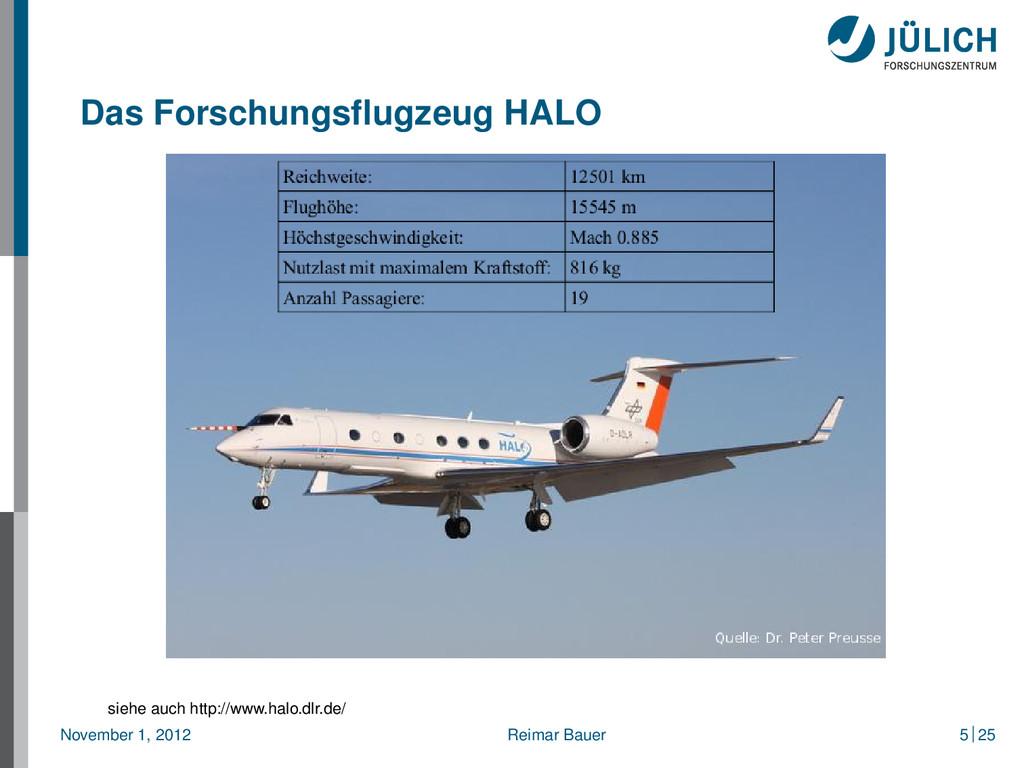 Das Forschungsflugzeug HALO siehe auch http://ww...