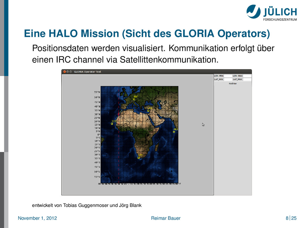 Eine HALO Mission (Sicht des GLORIA Operators) ...