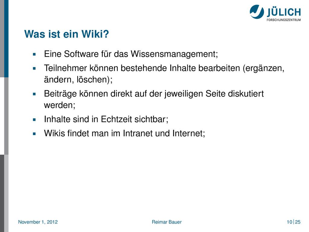 Was ist ein Wiki? Eine Software für das Wissens...